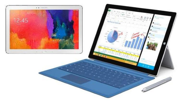 galaxytab12 surfacepro3