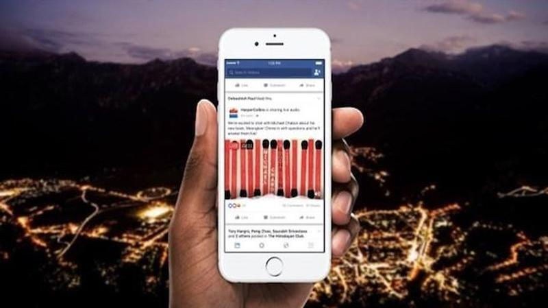 facebook anuncia retransmision audio directo