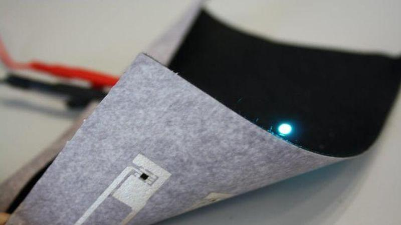 automotive fabric with integrated led